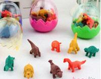 assorted erasers - CREATIVEBAR Cute Cartoon Animal Mini Dinosaur Egg Eraser Rubber Erasers colors assorted Lots240