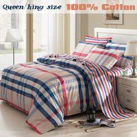 Cheap Wholesale-2015 Bed linen Home textile100%Cotton Brand Bedding sets Bed set 4pcs Duvet Cover Bed sheet Pillowcase King Queen