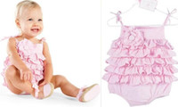 Wholesale baby onesies Stacked layers of cake cute little harness dress clothes Kazakhstan climbing clothes A