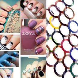Wholesale Fashion Mix Color Metallic Yarn Line Rolls Striping Tape Nail Art Beauty Decoration Sticker