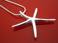 Wholesale sterling silver plated starfish necklace with pendant fashion silver jewellery