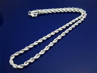 Wholesale hots silver twisted snake chain mens necklace fashion jewelry