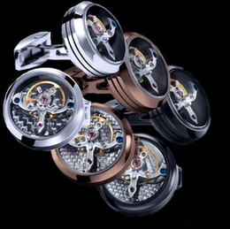 Wholesale Cufflinks Movement colors option watch design rose gold plating hotsale copper cufflinks whoelsale amp retail