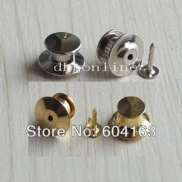 Wholesale Locking Tie Tac Tack guard Pin Clutch Backs for Rock Biker Nickle Gold Choice