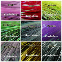 Wholesale Colors Packs Flashabou Holographic Tinsel Flash Fly Tying Jig Lure Making Fishing