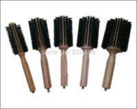 Wholesale Wooden Hair Brush With Boar Bristle Mix Nylon Professional Round Hair Brush GIC HB509 set