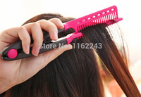 Wholesale ABS Professional V straightening comb Plastic heat resistant V Shape comb for natural hair styling Model