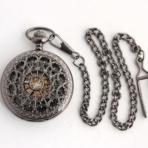 delicate fretwork men fob chain watches skeleton mechanical pocket delicate fretwork men fob chain watches skeleton mechanical pocket watch stainless steel timepiece