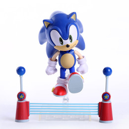 """Wholesale Super Mario Action Figures Collection - Wholesale-Free Shipping 4"""" Sonic the Hedgehog Vivid Nendoroid Series Boxed PVC Action Figure Collection Model Toy #214 SNFG001"""