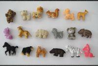 Wholesale flocking small animals toys cm random mixed