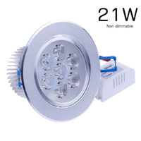 Cheap Wholesale-Cheap 21W 7x3w LED Ceiling Downlight luminaria de led iluminador kitchen cabinet ikea Recessed Downlights Lamp for Home Indoor