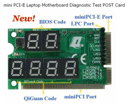 Wholesale KQMET6 mini PCI E Laptop Motherboard Diagnostic Test POST Card debug in PC Analyzer card For BIT CODE