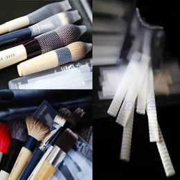 Wholesale-B76 Wholesale 50PCS Make Up Cosmetic Brushes Guards Mesh Protectors Cover