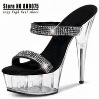 stripper shoes - Sapatos Femininos Zapatos Mujer Ladies Shoes Women Inch Stripper Shoes High heeled Noble Rhinestone All match Formal Sandals
