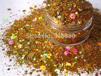 Wholesale Rainbow Gold SOLVENT RESISTANT HOLOGRAPHIC Glitter for Glitter Nail Art Glitter Nail Polish Glitter Crafts