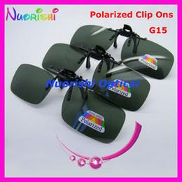 2017 lentes polarizadas recomendado por la mayor 20pcs CP01 Verde-Gery G15 Clip polarizado gafas de sol TAC lente UV400 con el envío libre lentes polarizadas limpiar