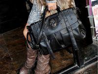 Wholesale Classic skeleton head handbags Hobos Studded leather bag Ladies skull bag hot sale retail BC087