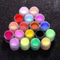 Cheap Wholesale-18 pcs Decorate Manicure Powder Acrylic UV Polish Kit Nail Art Set Hot Worldwide