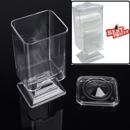 Wholesale Acrylic Nail Art Remover Paper Wipe Holder Container Storage Case make up nail styling tools Sets Kits Makeup Cotton Pad Box