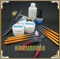 nail starter kit - UV Gel Nail Art Starter Kit Set Topcoat Cleanser Brush K152