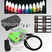 airbrush cleaning kits - OPHIR Nail Tools mm Airbrush Kit Mini Compressor for Nail Art Airbrushing Ink amp Stencil amp Bag amp Cleaning Brush Set