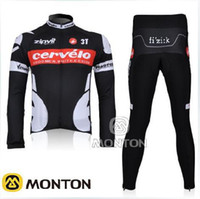 Wholesale 10 scorpion black long sleeved suit new tour DE France team Cervelo T professional riding clothing