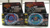 Wholesale Brand New Top Style Beyblade Metal Fusion GALAXY PEGASIS W105R2F and RAY NUICORNO