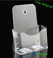 brochure holder - Clear A5 Single Plastic Brochure Pamphlet Literature Display Holder Racks Stand to Insert Leaflet On Desktop