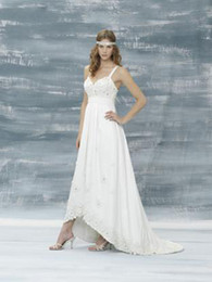 Wholesale JUSTIN ALEXANDER New Custom Made Chiffon Wedding Dresses sexy bridal dress OJ32