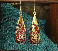 Alloy cloisonne earrings - Novelty Ethnic Earring High quality China Fashion Cloisonne Earrings Jewelry mix Free