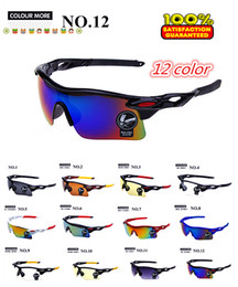 Wholesale-New Cycling Glasses Men Coating Sunglass Cycling Eyewear Women Sport Driving Riding Sunglasses Oculos 12 Colors Wholesale