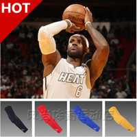 arm pads white - HOT Mcdavid basketball footable honeycomb anti collision lengthen armguards sports elbow arm sleeve pad breathable barcer