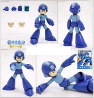 Wholesale Rockman model pvc assembly toy japan anime megaman rockman action figure for baby birthday gift