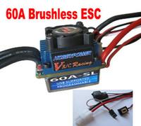 al por mayor controlador de velocidad de coche sin escobillas-Venta por mayor-Hobbypower Racing 60A SL V2 variador Brushless ESC para coche 1/10 carro del RC