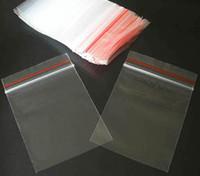 PP polypropylene bags - 2x2 inch x7cm Red Lock Sealing Line PP Polypropylene Plastic Clear Self Sealing Bags Bag