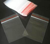 Wholesale 15x23inch x60cm Red Lock Sealing Line PP Polypropylene Plastic Clear Self Sealing Bags Bag