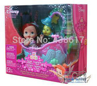 ariel bathtubs - Original Ariel Royal Nursery Mermaid Magic Bathtub Playset Little Mermaid Baby Ariel princess doll toys dolls for children girls