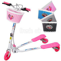 bicycle shopping basket - Girls Bike Bicycle Cycle Front Basket Flowery Shopping Stabilizers Children Kids