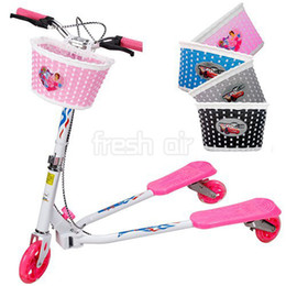 Wholesale Girls Bike Bicycle Cycle Front Basket Flowery Shopping Stabilizers Children Kids