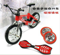 Wholesale 2011 Most Popular Finger SkateBoard Finger Bike indoor sports toy pack sets