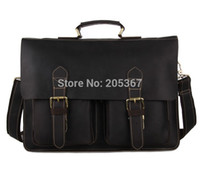 crazy horse leather - Rare Genuine Crazy horse Leather Laptop Messenger Bag Handbag Briefcase Leather Men R