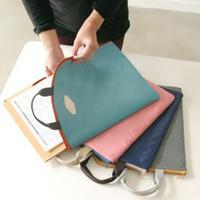 Wholesale New A4 Iconic Basic Pouch Notebook Business Briefcase Document Organizer Storage Bag Women men Office Handbag