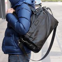 Uomo casuale Big Bag Wholesale-uomo borsa diagonale pacchetto di una notte della borsa a tracolla Computer Bag cartella di affari