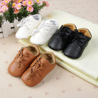 Wholesale Baby Boys Girls First Walkers Toddler Infant Newborn Shoes Hot selling Lace Up Brand PU Leather New Freeshipping