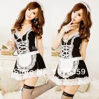 lingerie japan - Sexy Women Japan Maid Costumes Sexy Lingerie Sweet Princess Maid Cosplay Adult Pirate Costume Erotic Lingerie Clothing Sets