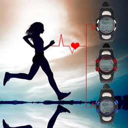 Wholesale Sports Pulse Heart Rate Monitor Fitness Exercise Watch Pedometer Calorie Stopwatch Waterproof Outdoor Cycling Watch