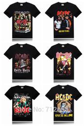 Wholesale-Ac Dc Brand 3D Men T-shirt Metal Rock Band Printing Stage Tee Shirt Slim Fitness hip hop t shirt Size S-XXXL Free Shipping