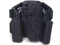 Wholesale CQC Colt RH Drop Leg Holster w Mag amp Light Case BK revolver holsters