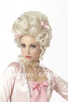 Wholesale Hot Sell Ladies Marie Antoinette Deluxe Queen Blonde WIG Costume Fancy Dress Party
