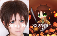 Cheap Wholesale-Japanese anime Attack on Titan cosplay wig Eren Jaeger characters role Playing wig Free shipping